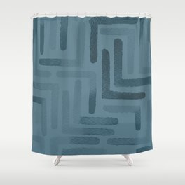 Blueprint and  Watercolor Texture 3 Shower Curtain