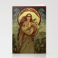mother Stationery Cards featuring Mother by Natasa Ilincic