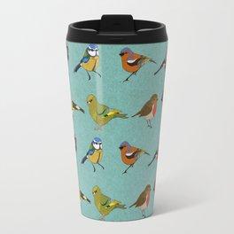 British Garden Birds - Blue Travel Mug