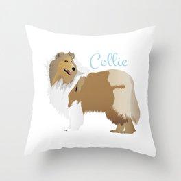 Graceful Rough Collie Throw Pillow