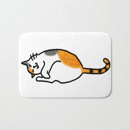 Comfy Calico Cat Bath Mat