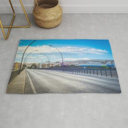 The road and lights in Spain, Andalusia Rug