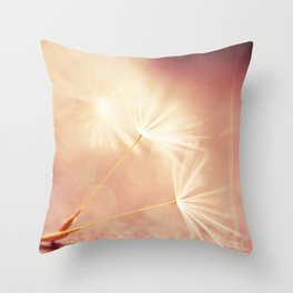 My Wish for You. dandelion seeds photograph Throw Pillow
