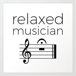 Relaxed musician Art Print