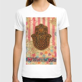 Hearts and Butterfly Hamsa T-shirt