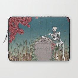 Skeleton Leaning on Grave Laptop Sleeve