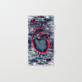 Gamer Heart BLUE CRIMSON / 3D render of mechanical heart Hand & Bath Towel
