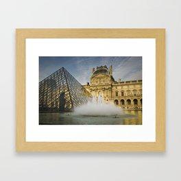 La fontaine du Louvre Framed Art Print