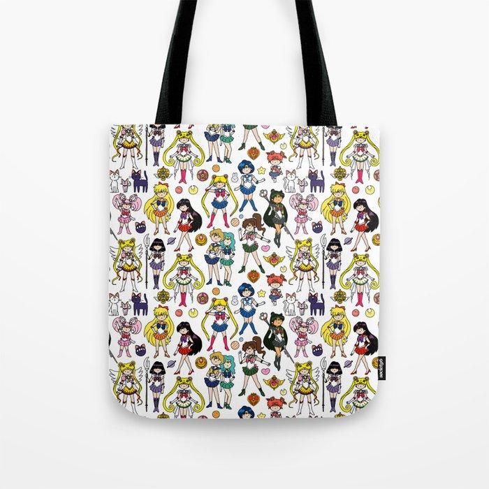 Kawaii Sailor Senshi Doodle Tote Bag