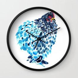 Blue Cochin Hen Wall Clock