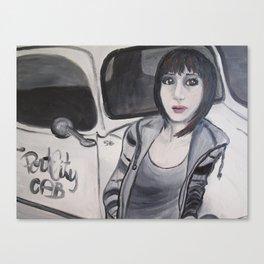 Cabby Girl Canvas Print