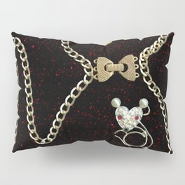 I Love Me Mouse! Cat and Mouse Jewelry Scanography Pillow Sham