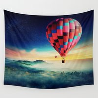 hot air balloons Wall Tapestries featuring Hot Air Balloons by EclipseLio