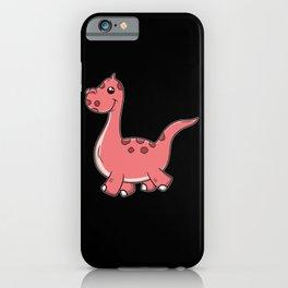 Cute Walking Dinosaur iPhone Case
