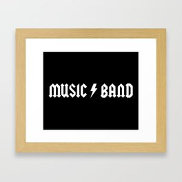 Generic Music Band Quote Framed Art Print