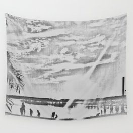 Happy Place Sketched Wall Tapestry