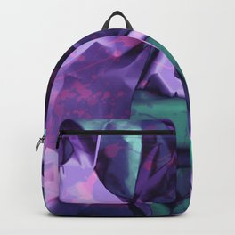 Restless Unicorn. Dynamic Purple and Teal Abstract. Backpack