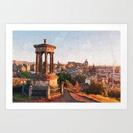 Calton Hill, Edinburgh Art Print