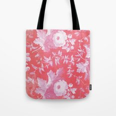 Patterned Silk Rose Tote Bag
