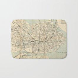 Vintage Downtown Boston Subway Map (1917) Bath Mat