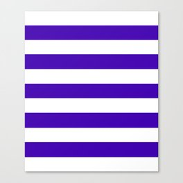 Yahoo Purple - solid color - white stripes pattern Canvas Print