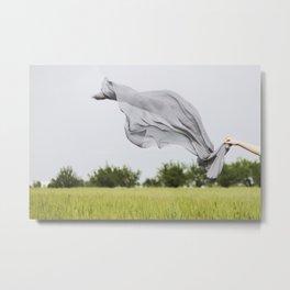 Flying scarf Metal Print