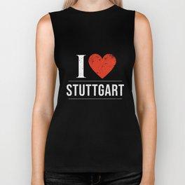 I Love Stuttgart Biker Tank