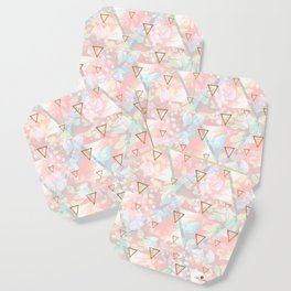 Abstract nature and triangles Coaster