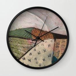 white sun Wall Clock