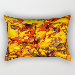 Red and Yellow Rectangular Pillow
