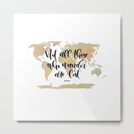 Not all those who wander are lost (blush/green) Metal Print