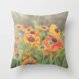 Flowers in the Summer Throw Pillow