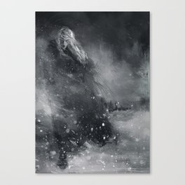 Finrod crossing the Helcaraxe Canvas Print