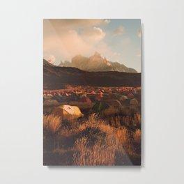 Patagonia Chile Morning Camp Metal Print