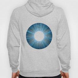 Blue Iris Abstract Universe Art Hoody