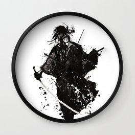 Samurai ronin Wall Clock