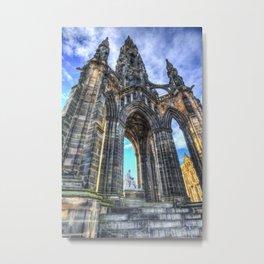 The Scott Memorial Edinburgh Metal Print