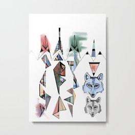 Mountian Wolves  Metal Print