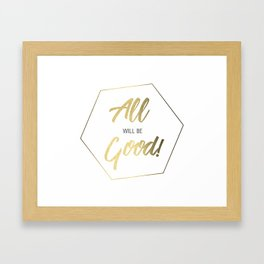 Inspiring Gift Ideas for Entrepreneurs #5 - Gold on White Framed Art Print