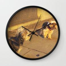 Cute Yorkshire lovers Wall Clock