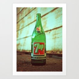 Nostalgic 7up bottle Art Print