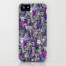 Ultraviolet Gemstone Cats iPhone Case