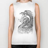 dragon Biker Tanks featuring Dragon. by sonigque