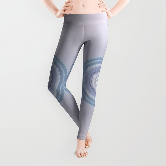 Inspirational Mandala in soft pastel colors of blue and lilac Leggings