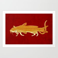Catfish Art Print