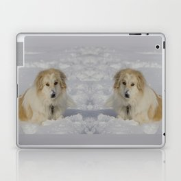 Patricia the Snow Dog Laptop & iPad Skin