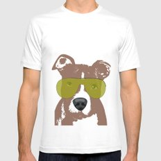 American Pit Bull Terrier Mens Fitted Tee White MEDIUM