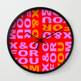 FOR YOU MOM Wall Clock
