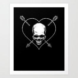 Eros & Thanatos (Jolly Roger Black Flag) Art Print
