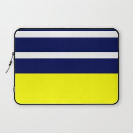 Summer Patio Perfect, Yellow, White & Navy Laptop Sleeve